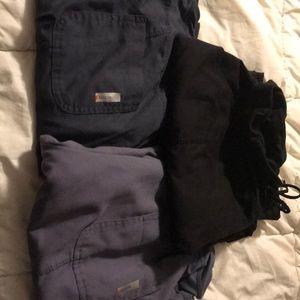 3 pairs of greys anatomy scrub pants
